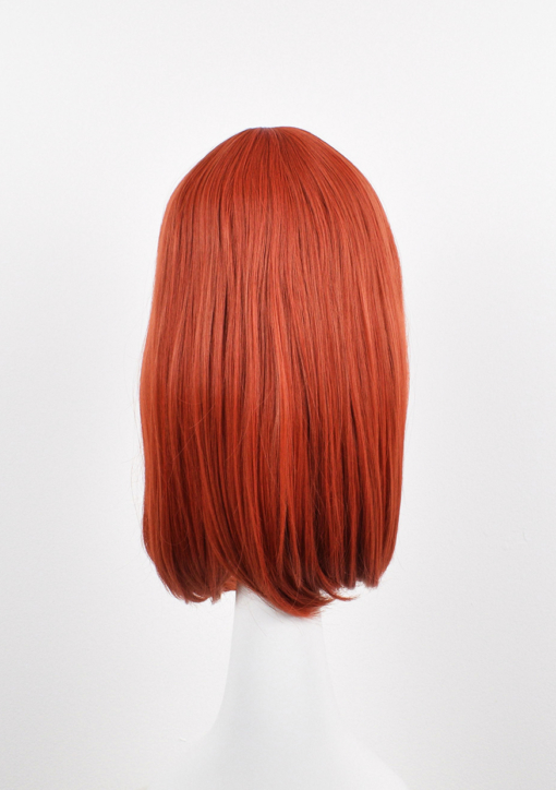 Orange long straight wig with fringe. A firm favourite of the spicy tones we have. Pumpkinhead is a muted sleek ginger that doesn't fade with time.