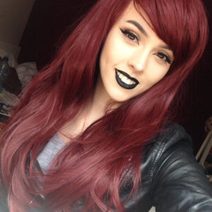 Natural Red Auburn Waves Gothic Lolita Cosplay Lush Wig