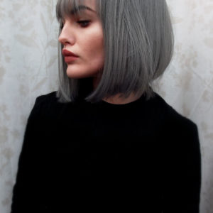 Cute Grey Silver Bob Cosplay Lush Wig